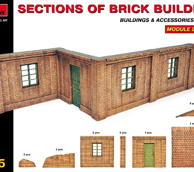 MINIART 35552 Sections Of Brick Building. Module Design Modellismo