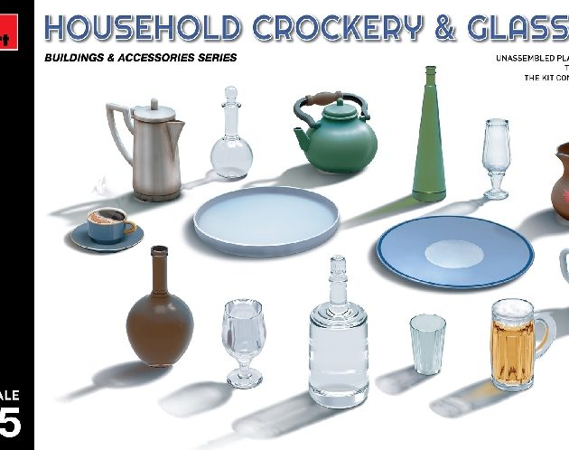 Miniart 35559 HOUSEHOLD CROCKERY & GLASS SET