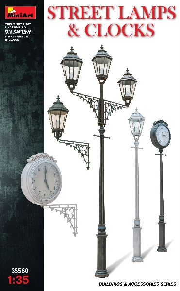 Miniart 35560 STREET LAMPS & CLOCKS
