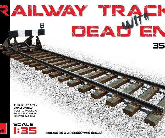 Miniart 35568 RAILWAY TRACK w/ DEAD END. EUROPEAN GAUGE
