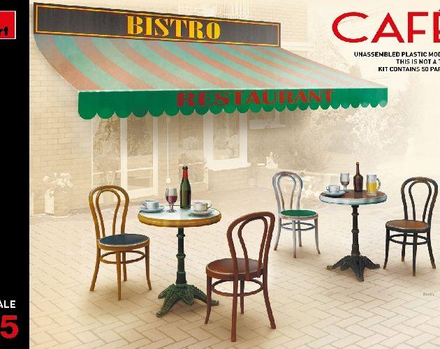 Miniart 35569 CAFÉ FURNITURE & CROCKERY