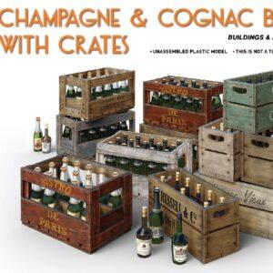Miniart 35575 CHAMPAGNE & COGNAC BOTTLES w/CRATES