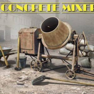 Miniart 35593 CONCRETE MIXER SET