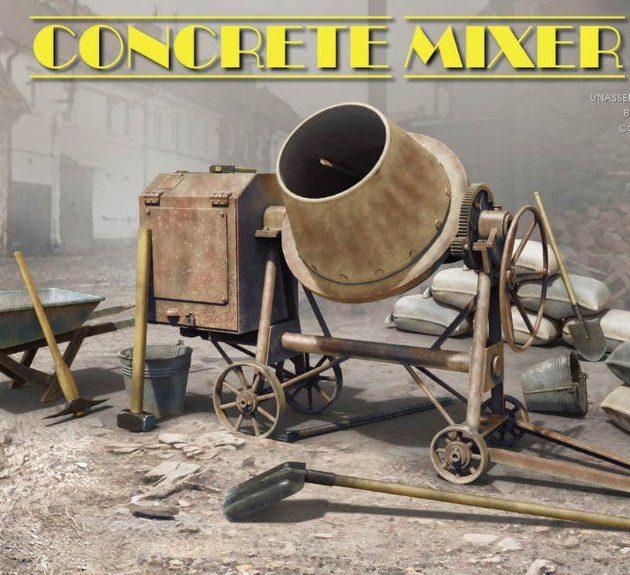 Miniart 35593 CONCRETE MIXER SET
