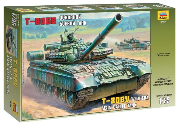 ZVEZDA 3592 Russian Main Battle Tank T-80bv