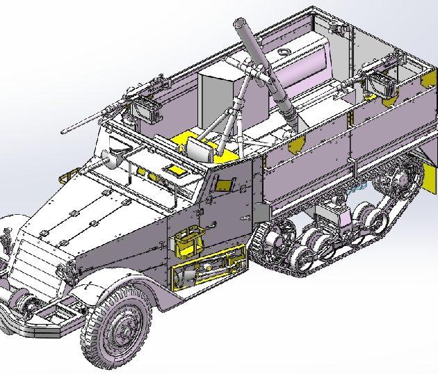 Dragon 3597 IDF M3 HALFTRACK MORTAR CARRIER Modellismo