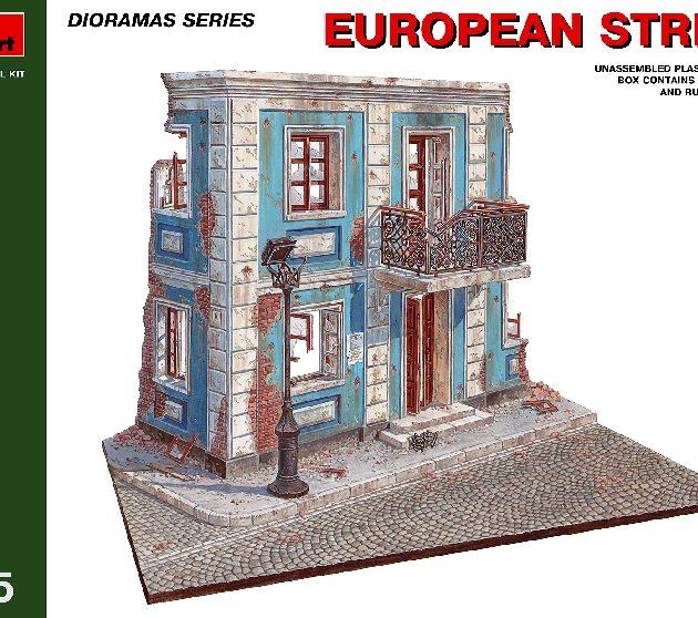 MINIART 36011 European  Street.                         Modellismo