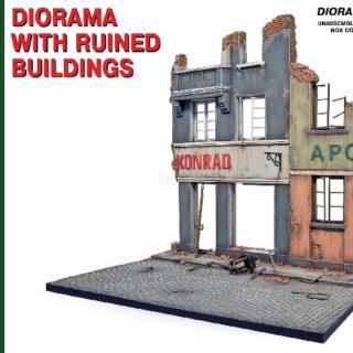 MINIART 36036 Diorama W/Ruined Buildings                Modellismo