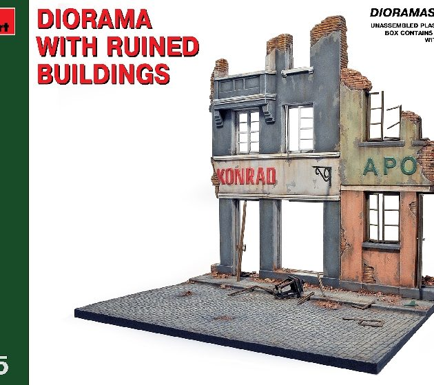 MINIART 36036 Diorama W/Ruined Buildings                Modellismo