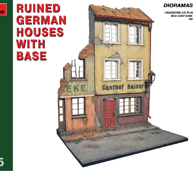 MINIART 36038 Ruined German Houses W/ Base Modellismo