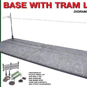 MINIART 36057 Base With Tram Line Modellismo