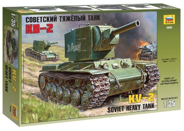 ZVEZDA 3608 Soviet Heavy Tank Kv-2