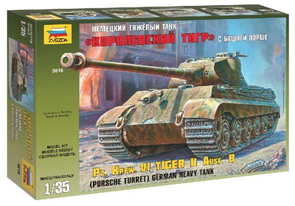 ZVEZDA 3616 Pz.Kpfw.VI Tiger II Porsche Turret