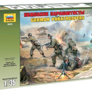 ZVEZDA 3628 German Paratroops Wwii