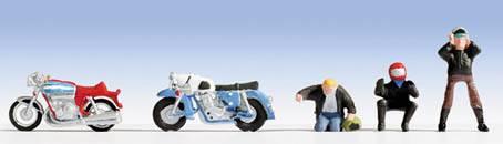 Noch 36901 MOTOCICLISTI con MOTO Modellismo