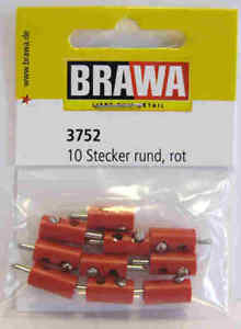 Brawa 3752 Spinotto banana rosso 10 pezzi Modellismo