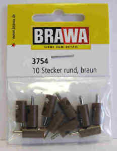 Brawa 3754 Spinotto banana marrone 10 pezzi Modellismo