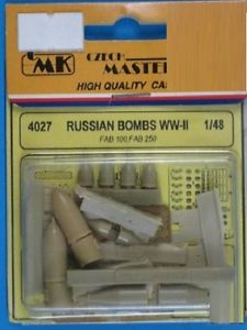 CMK 4027 BOMBE RUSSE WW II-FAB1OO-250 Modellismo