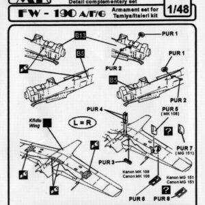 CMK 4034 SET ARMAMENTI FW19O A-TAMIYA Modellismo