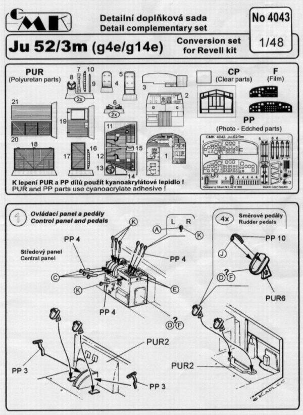 CMK 4043 INTERNI JU 52/3m REV/MONOGRAM Modellismo