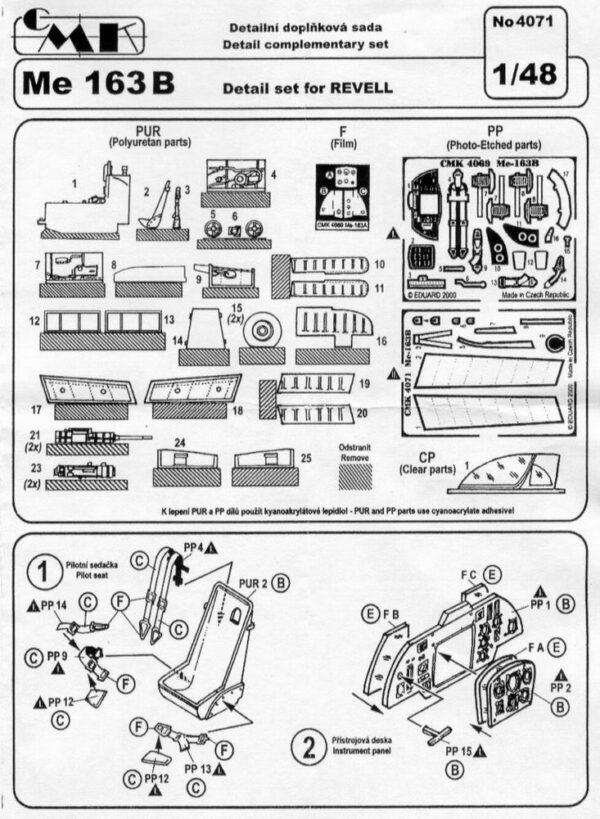 CMK 4071 Me 163 B DETTAGLI REVELL Modellismo