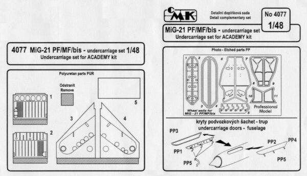 CMK 4077 MIG-21 PF ACCESSORI Modellismo