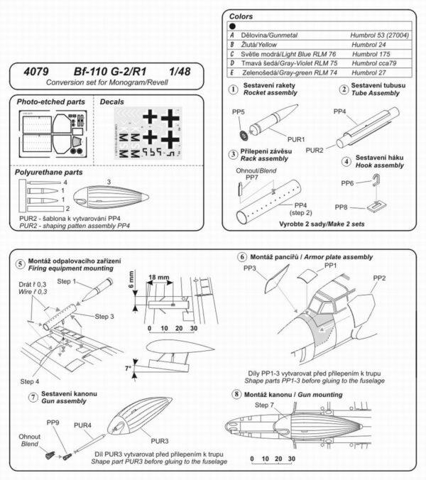 CMK 4079 BF-110 G-Z CONVERSIONE Modellismo