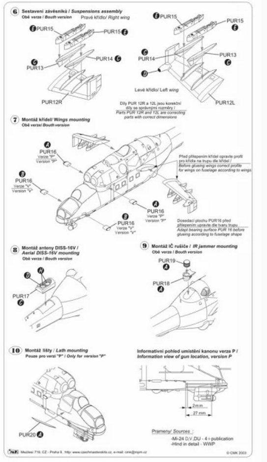 CMK 4080 MI-24 V/P ARMAMENTO Modellismo