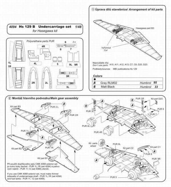 CMK 4094 Hs 129B ACCESSORI PER HASEGAWA Modellismo