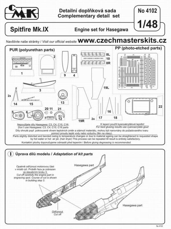 CMK 4102 SPITFIRE MK.IX MOTORE PER HASEGAWA Modellismo