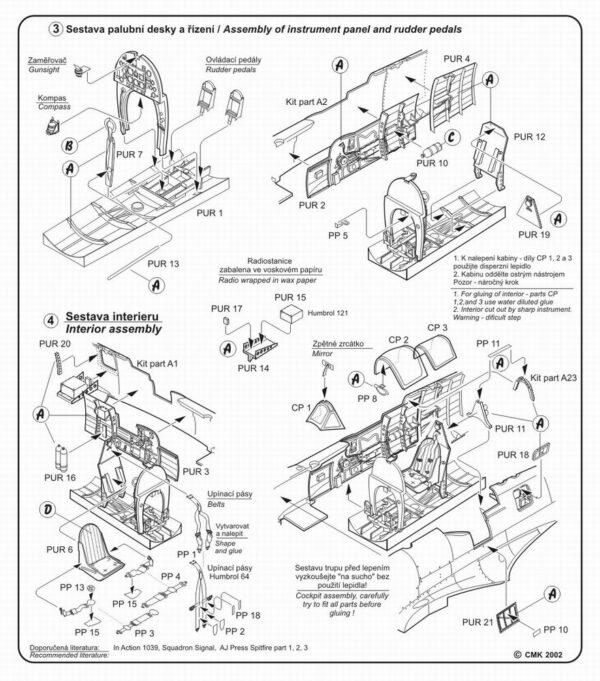 CMK 4103 SPITFIRE MK. IX INTERNI X HASEGAWA Modellismo