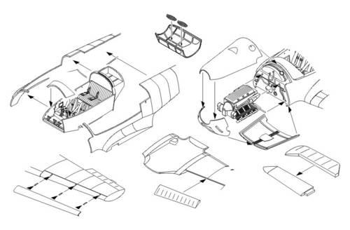 CMK 4121 BF 108 TAIFUN PARTICOLARI Modellismo