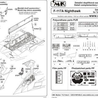 CMK 4127 F117A PARTICOLARI X TAMIYA Modellismo