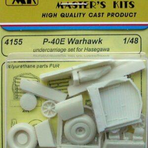 CMK 4155 P-40E Warhawk sottocarrelli HASEGAWA Modellismo