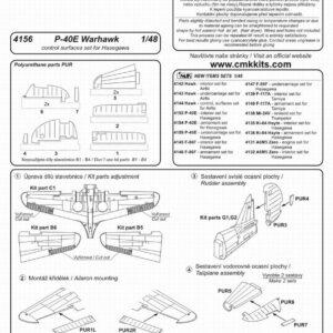 CMK 4156 P-40E Warhawk superfici controllo Modellismo