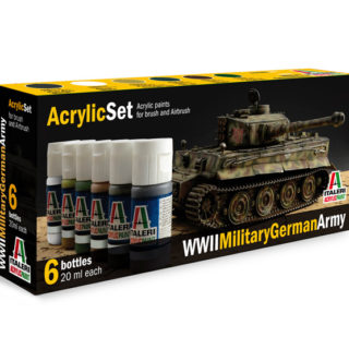 Italeri 433AP ACRYLIC SET WWII MILITARY GERMAN ARMY