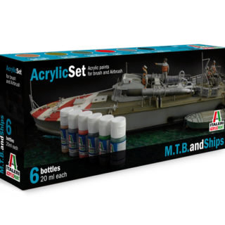 Italeri 434AP ACRYLIC SET M.T.B. AND SHIPS