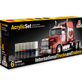 Italeri 435AP ACRYLIC SET INTERNAT. TRUCKS