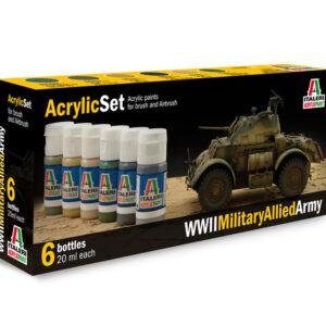 Italeri 440AP ACRYLIC SET: WWII MILITARY ALLIED Modellismo
