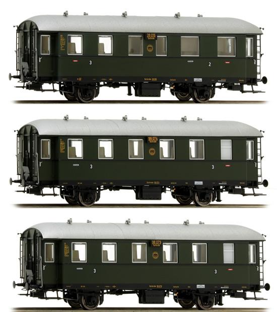 Brawa 45500 Carrozza passeggeri Ci-33 BCi  34 DRG SET