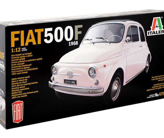 ITALERI 4703 FIAT 500F 1968 auto in kit scala 1/12
