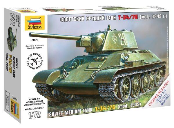 ZVEZDA 5001 Soviet Tank T-34/76