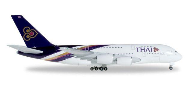 "Herpa 502306-004 A380 ""Phayuha Khiri"" Thai Airways Modellismo"