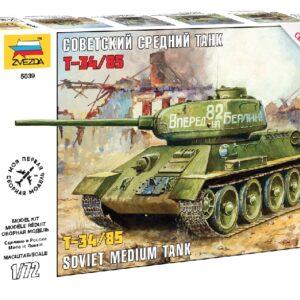 ZVEZDA 5039 T-34/85 Soviet Medium Tank WWII
