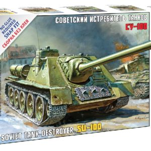 Zvezda 5044 SOVIET SELF - PROPELLED GUN SU-100
