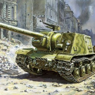 Zvezda 5054 ISU-122 SOVIET SELF PROPELLED
