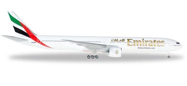 """Herpa 518277-004 Boeing 777-300ER """"Emirates"""" Modellismo"""