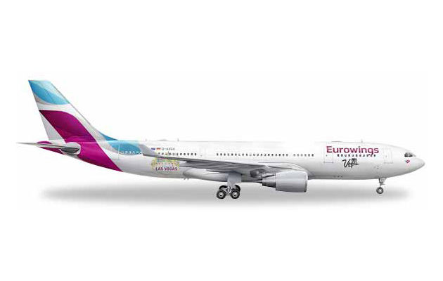 """Herpa 531436 Airbus A320-200 Eurowings """"Las Vegas"""" Modellismo"""