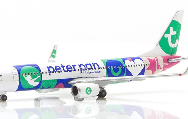 "Herpa 531450 Boeing 737-800 Transavia ""Peter Pan"" Modellismo"