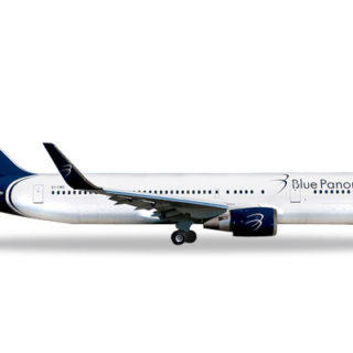 "Herpa 531559 Boeing 767-300 Blue Panorama ""Città  diMi Modellismo"